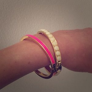 JCrew Color Enamel Hinge Bracelet in Summer Sorbet